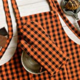 Cotton Apron100% Cotton with Front Center Pocket with Ends byPixel Home © (Apron with Oven Mitt)