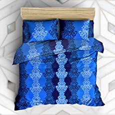 Homefab India 140 TC Polycotton BedSheet with Pillow Cover - Multicolor