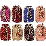Ailtino Women Multicolor Potli Bag combo's and set's (Set of 8)