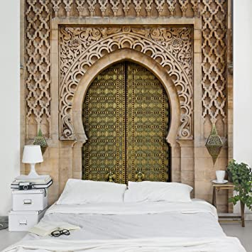 Vliestapete steinoptik küche  Fototapete | Steintapete Oriental Gate - Vliestapete PREMIUM ...