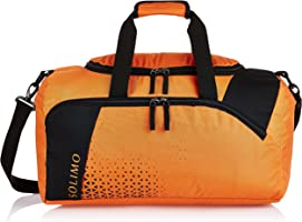 Amazon Brand - Solimo Explorer Duffle Bag (36 litres, Brick Orange & Coal Black)