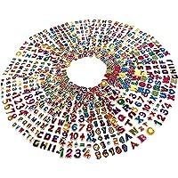 Egero Stickers 3D Alphabet + de 750 Autocollants Chiffres et Lettres Multicolores (20 Planches) Réutilisables pour…