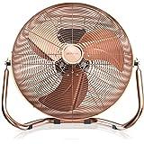 Brandson - Macchina del vento - Ventilatore da 30 cm di diametro - Ventilatore da tavolo - 3-livelli di potenza Low - Medium - High - 48W - Design Retro - Color Rame