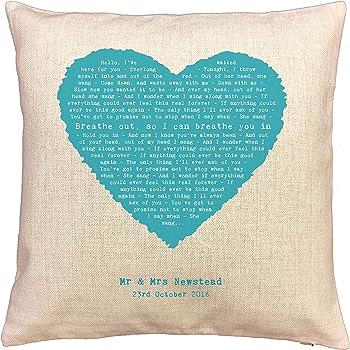 Foo Fighters Fan Gift Everlong Song Lyrics Cushion Swirl Design 18x18