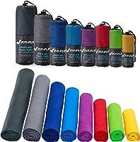 Mikrofaser Handtücher in ALLEN Größen / 12 Farben – klein, leicht und ultra saugfähig - das perfekte Sporthandtuch,...