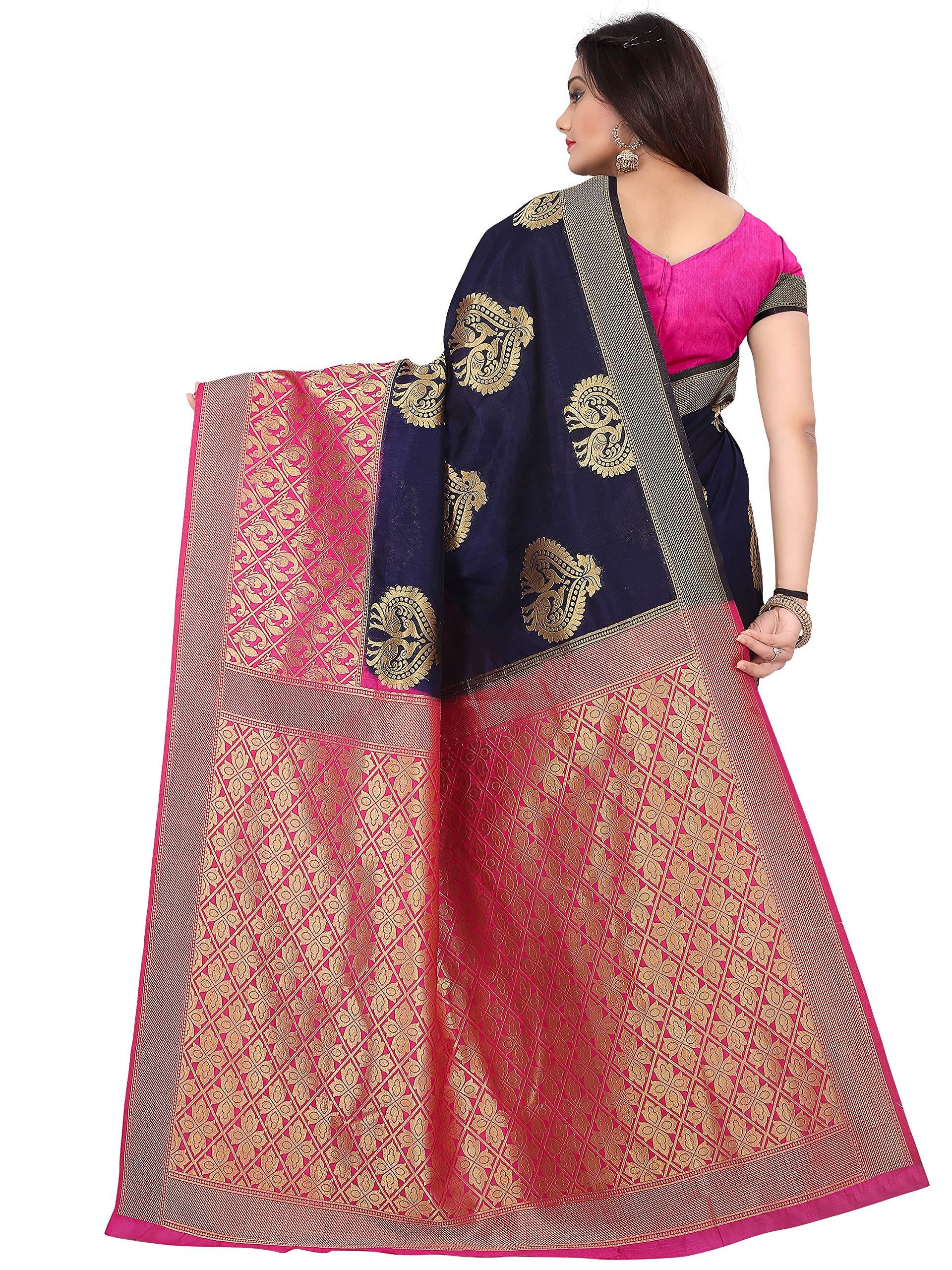 46ee2f004e arars kanjivaram kanchipuram silk pattu saree (264 RA NAVY BLUE ...