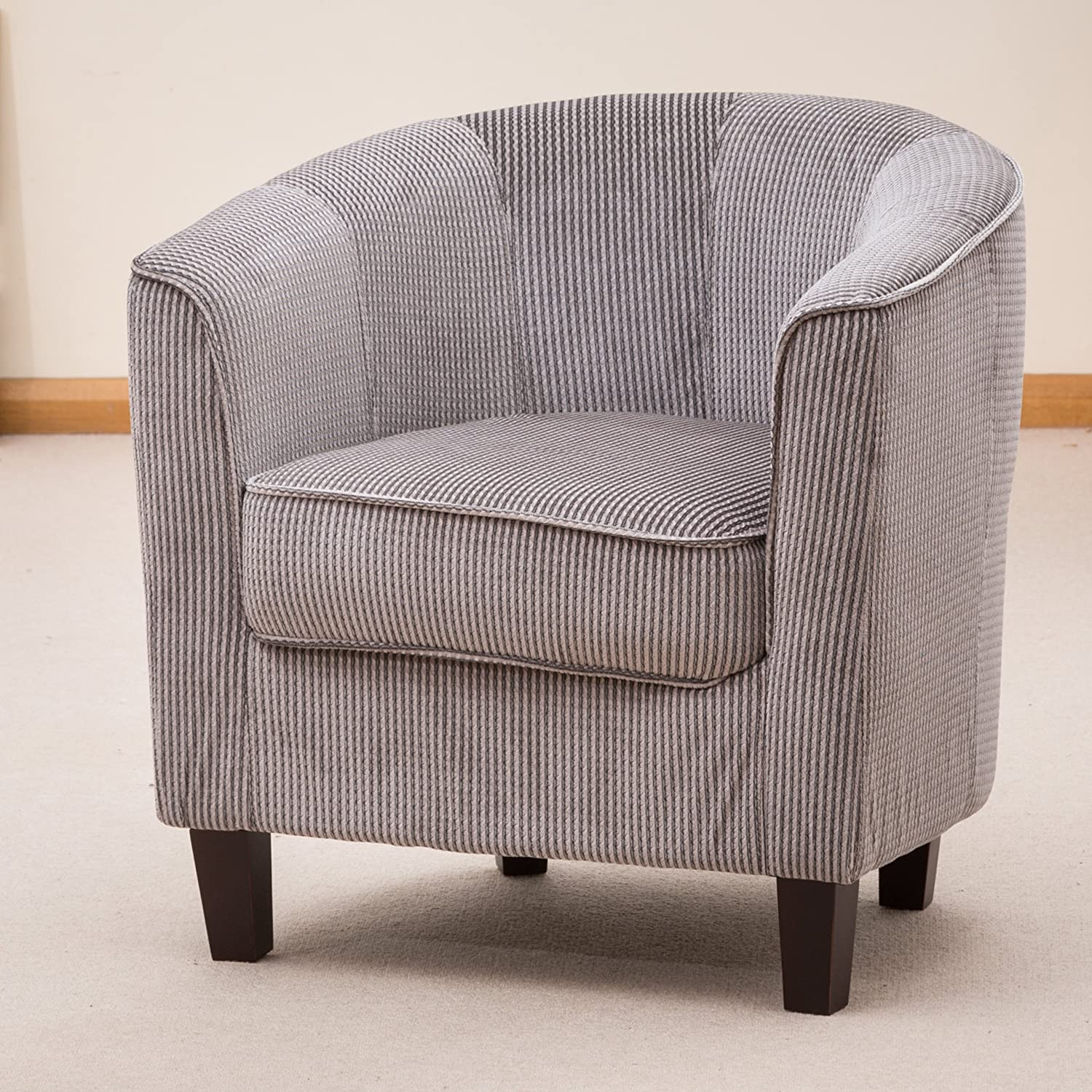 Sofa Collection Brand New Striped Tub Chair Armchair Seating