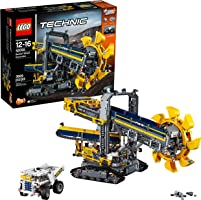 LEGO 42055 Technic Bucket Wheel Toy Excavator, 2 in 1 Model with Power Functions, Construction Toys for Teenagers