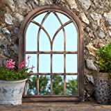 Creekwood Toscana Indoor/Outdoor Lightweight Arched Window Wall Mirror, Brushed Copper, W50cm x H76cm
