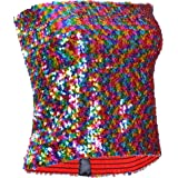 Best Fancy Dres One BFD Ladies Girls Sequin Boob Tube Sequin Strapless Top Hotpants Hand Wash in Cold Water Very Stretchy One
