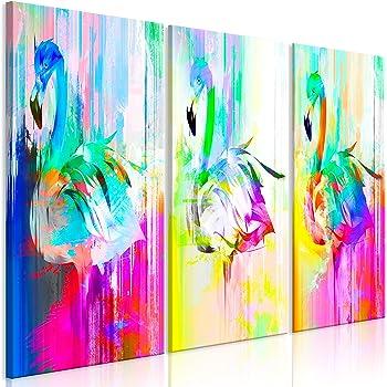 Murando   Bilder Flamingo 135x90 Cm   Leinwandbilder   Fertig Aufgespannt    Vlies Leinwand   3 Teilig Wandbilder XXL   Kunstdrucke   Wandbild   Vogel  Bunt ...