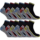 Mens Anti Sweat Heavy Duty Breathable Short Trainer Bamboo Work Socks for Steel Toe Boots