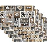 Venilia Love IN The Air Salvamanteles, Mantelería, Mantel Individual para el Comedor, Apto para Alimentos, 4 tajada, 45 x 30