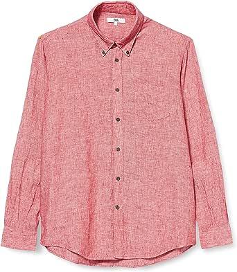 Marchio Amazon - find. - Regular Linen, Camicia Uomo