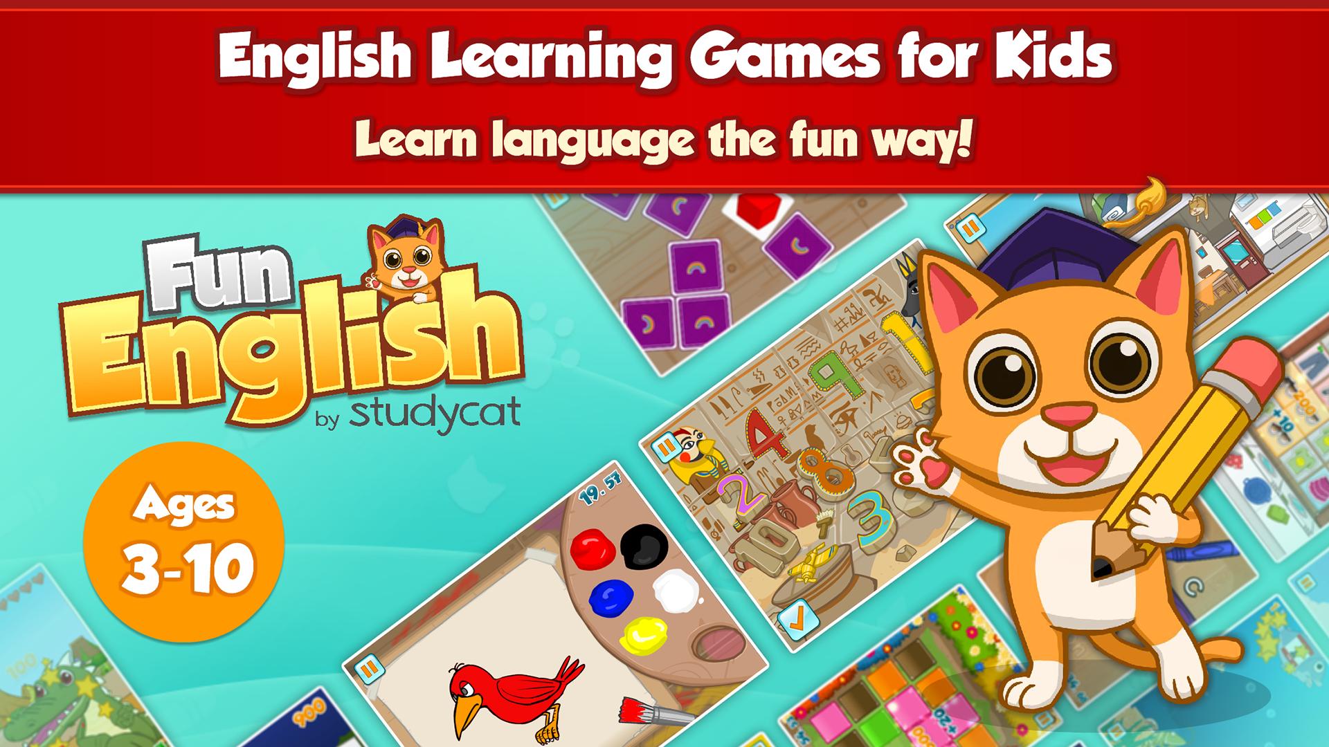 Fun English - Language Learning Games for Kids aged 3-10