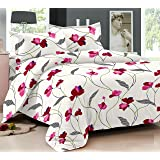 Ahmedabad Cotton Comfort 160 TC Cotton Bedsheet with 2 Pillow Covers - King Size, Pink
