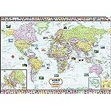 World Map ( 140 x 100 cm ) Laminated ( Big Map )