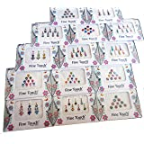 50 pacchetti di Bindi – bindi indiani all'ingrosso, adesivi multicolore, gioielli per il viso indiani Tika