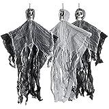 THE TWIDDLERS Halloween 3 hangende griezelige skelet seizoensdecoratie - tot 70 cm ophangen aan het plafond, perfecte partyde