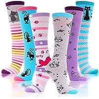 ProEtrade Calzini da bambina alte al ginocchio Modello animale carino Calzini in cotone per stivali divertenti lunghe…