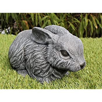 Cast stone Garden ornament Rabbit Slate gray
