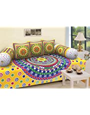 RajasthaniKart Traditional 6 Piece Diwan e-Khas - 100% Cotton, Multicolor