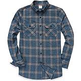 Dubinik®, camicia da uomo a quadretti, in flanella, a maniche lunghe, vestibilità normale, per il tempo libero