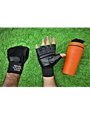 Royal waves Gym Gloves / Cycling Gloves / Riding Gloves / Stretchable Size for both Men and Women, Black Colour, Odor free and clean