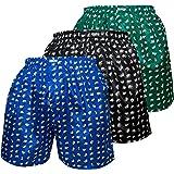 Thai Silk Set of 3 Men's Comfort Sleep Underwear Elephant Boxer Shorts Mix Color
