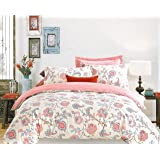 Ahmedabad Cotton 180 TC Sateen King Bedsheet with 2 Pillow Covers, Multicolour