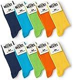 10 Paar Socken von Mat & Vic's für Sie und Ihn - Cotton classic bequem ohne drückende Naht - angenehmer Komfort-Bund - OEKO-TEX Standard 100