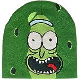 Bioworld And Morty Pickle Rick Face Cuffless Beanie Berretto in Maglia, Verde (Verde), Taglia Unica Uomo