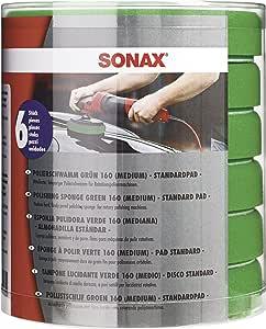 Sonax Schaumpad Medium 160 Six Pack 6 Stück Mittelharter Feinporiger Schwamm Zum Maschinellen Polieren Von Lacken Art Nr 04938410 Auto