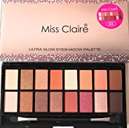 Miss Claire Miss Claire Ultra Glow Eyeshadow Palette 3, Multi, 16 grams, Multicolor, 16 g