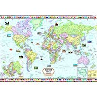 World Map : Political ( 70 x 100 cm ) - Laminated