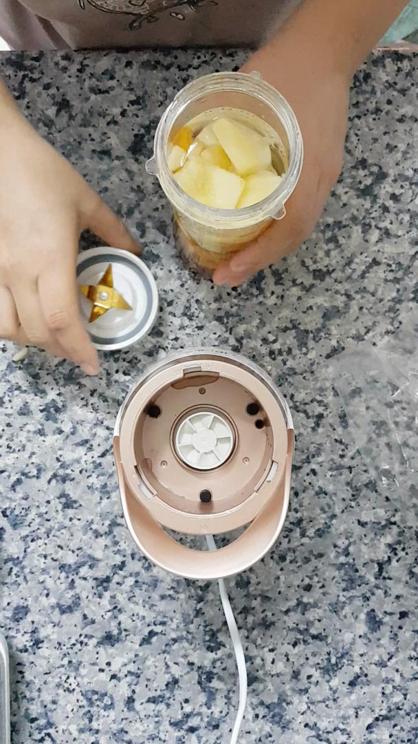 Batidora de vaso LINKChef Batidora de portátil, 300W con 2 Botellas Portátiles sin BPA 500ml, licuadoras batidora, Mix & Go cool, Blanco/Oro ...
