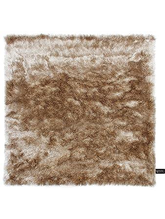 benuta shaggy hochflor teppich whisper quadratisch hellbraun 60x60 ...