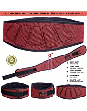 """XTRIM DURA BELT-""""6"""" INCH Weightlifting Belt-Contoured and Ultra-Light Foam Core- Comfort Stabilizing Back Support–Best for Crossfit-Olympic lifting-Powerlifting-Squat-Deadlift-Gym Workouts-Injury prevention"""