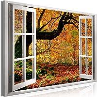murando Impression sur Toile intissee Fenêtre 90x60 cm 1 Partie Tableau Tableaux Decoration Murale Photo Image…