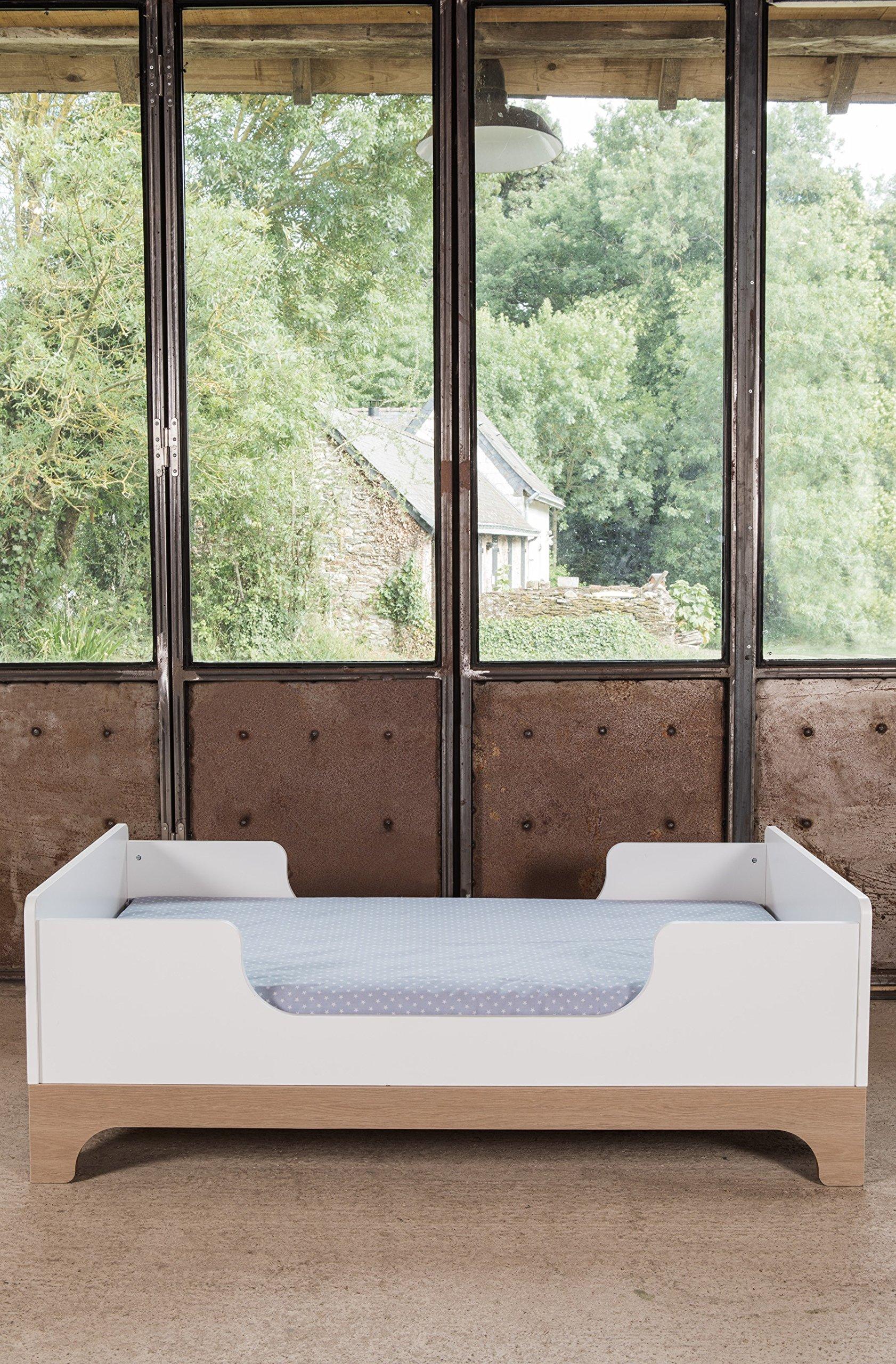 Kadolis Calvi Convertible Bed - 70 x 140 cm Blanco/Madera   1