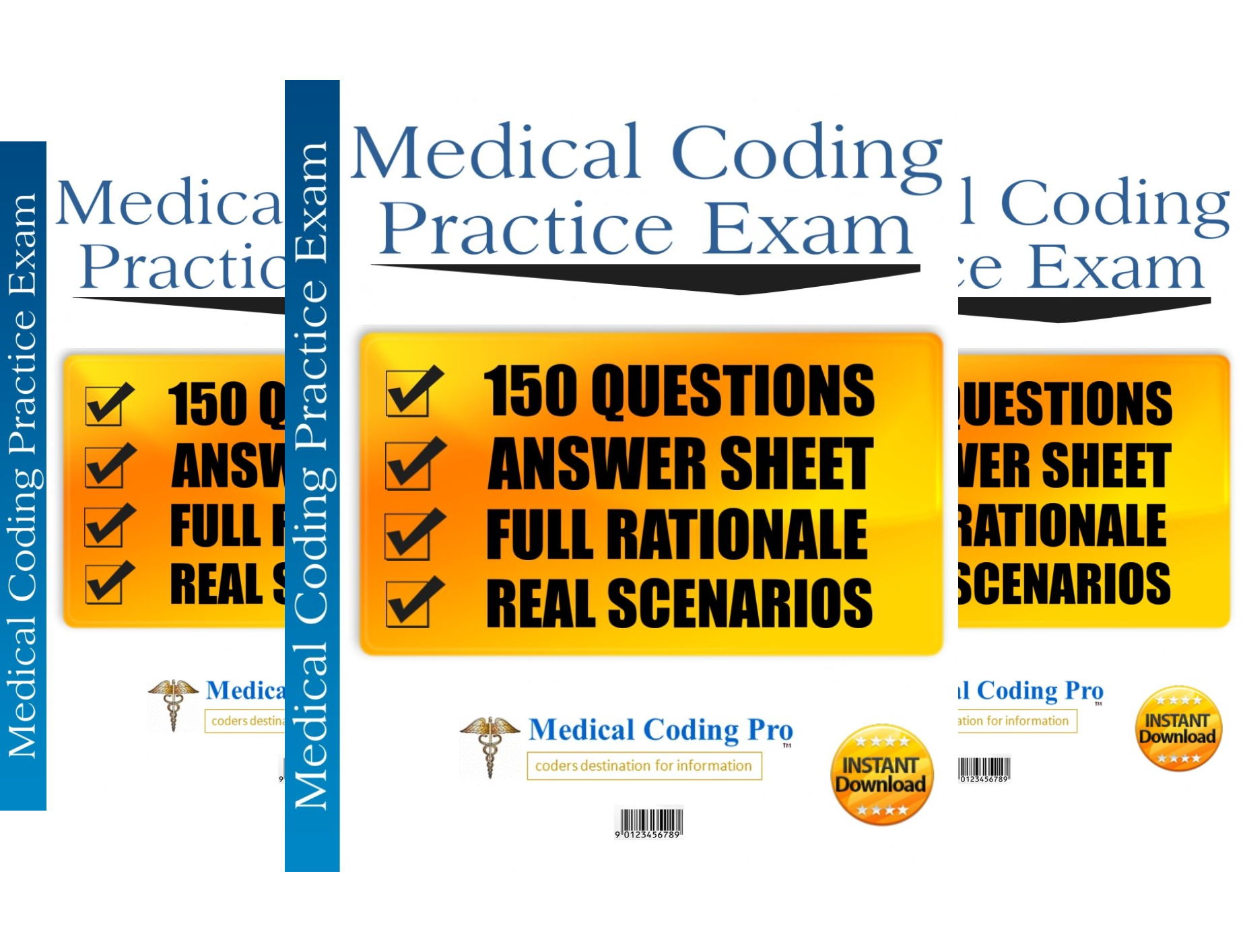 Medical Coding Pro Practice Exams (3 Book Series)