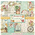 "STAMPERIA Bloc Papier Scrap double Face 10 feuilles 30,5x30,5 (12""x12"") - Jardin multicolore SBBL43"