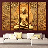 KYARA ARTS Wood Framed Painting, Multicolour, Religious, 50 x 30 inch