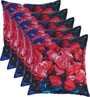 Panache Exports Cushion Covers, Multi-Colour, 45x45cm, PECUSCVR07, Pack of 5