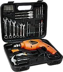 BLACK+DECKER HD455KA 10mm 550 Watt Impact Drill Kit (Orange, 41-Pieces)