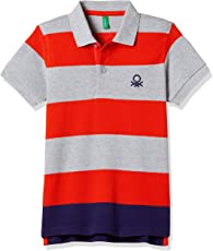 United Colors of Benetton Boys' Polo (17A30890ZAS2I_Multicoloured_S)