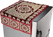 Amazon Brand - Solimo Cotton Blend Fridge Top Cover, Maroon