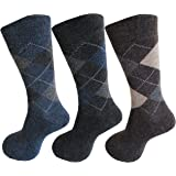 RC. ROYAL CLASS Men's Woolen Thick Towel Multicolored Formal Winter Socks (Pack of 3)(Free size)