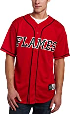 NHL Calgary Flames Short Sleeve Button Front Replica Jersey Men's
