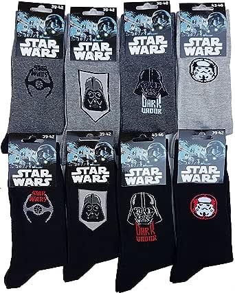 Calzini da uomo Star Wars Comfort e fantasia in cotone – Assortimento modelli foto a seconda della disponibilità.